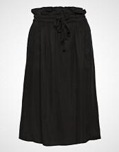 Scotch & Soda Cupro Skirt With Tie Detail At Waistband Knelangt Skjørt Svart Scotch & Soda