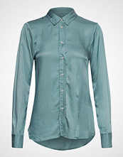 Soaked in Luxury Sl Jeanette Shirt Ls Langermet Skjorte Blå SOAKED IN LUXURY