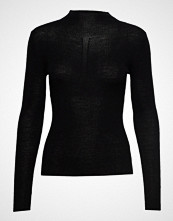 Sand Fellini Rib - Eleri Top T-shirts & Tops Long-sleeved Svart SAND