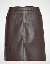 Soaked in Luxury Sl Tamara Pu Skirt Kort Skjørt Brun SOAKED IN LUXURY