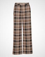 Soaked in Luxury Sl Indie Check Pants Vide Bukser Brun SOAKED IN LUXURY