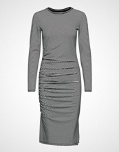 Superdry Rouched Midi Ls Dress Knelang Kjole Svart SUPERDRY