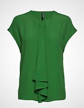 Mango Draped Detail Blouse Bluse Kortermet Grønn MANGO