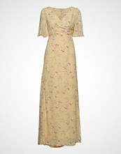 by Ti Mo Delicate Semi Wrap Dress Maxikjole Festkjole Gul BY TI MO