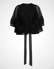 Cathrine Hammel Multiple Layers Top W/Sleeves Bluse Kortermet Svart CATHRINE HAMMEL
