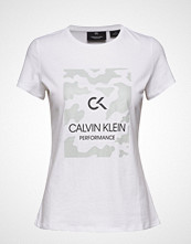Calvin Klein Performance Billboard Short Slee T-shirts & Tops Short-sleeved Hvit CALVIN KLEIN PERFORMANCE