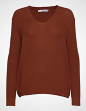 Mango V-Neckline Sweater Strikket Genser Brun MANGO