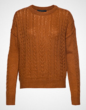 Soft Rebels Calby O-Neck Knit Strikket Genser Brun SOFT REBELS
