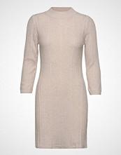 Mango Ribbed Jersey Dress Strikket Kjole Beige MANGO