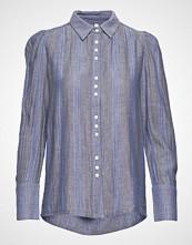 Pulz Jeans Pzjane Shirt Langermet Skjorte Blå PULZ JEANS