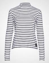 Calvin Klein Mock Neck Ls Tee, 90 T-shirts & Tops Long-sleeved Hvit CALVIN KLEIN JEANS