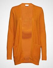 Vila Viril L/S Open Knit Cardigan-Noos Strikkegenser Cardigan Oransje VILA