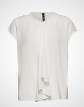 Mango Draped Detail Blouse Bluse Kortermet Hvit MANGO