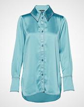 Stine Goya James, 630 Solid Poly Langermet Skjorte Blå STINE GOYA