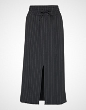 Ganni Heavy Crepe Skirt Langt Skjørt Svart GANNI