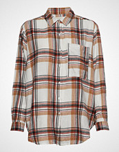Moshi Moshi Mind Emma Shirt Check Langermet Skjorte Beige MOSHI MOSHI MIND