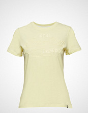 Superdry Vintage Logo Tonal Entry Tee T-shirts & Tops Short-sleeved Gul SUPERDRY