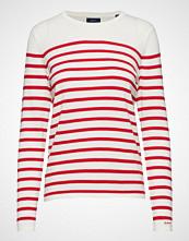 Gant Breton Stripe Crew T-shirts & Tops Long-sleeved Rød GANT