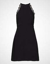 Mango Lace Appliqu Dress Knelang Kjole Svart MANGO