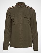 Superdry Lennox Military Shirt Langermet Skjorte Grønn SUPERDRY