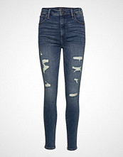 Abercrombie & Fitch High Rise Super Skinny Jeans Skinny Jeans Blå ABERCROMBIE & FITCH