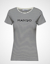 Mango Logo Cotton T-Shirt T-shirts & Tops Short-sleeved Svart MANGO