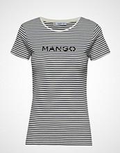 Mango Logo Cotton T-Shirt T-shirts & Tops Short-sleeved Svart MANGO