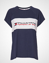 Tommy Sport Blocked Tee Logo T-shirts & Tops Short-sleeved Blå TOMMY SPORT
