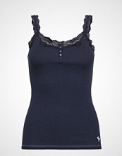 Abercrombie & Fitch Icon Lace Cami T-shirts & Tops Sleeveless Blå ABERCROMBIE & FITCH