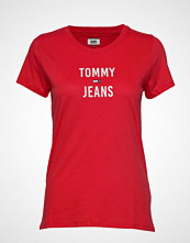 Tommy Jeans Tjw Square Logo Tee, T-shirts & Tops Short-sleeved Rød TOMMY JEANS