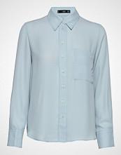 Mango Pocket Flowy Shirt Langermet Skjorte Blå MANGO