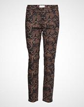 Minus Paisley Pants 7/8 Bukser Med Rette Ben Multi/mønstret MINUS