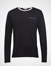 Calvin Klein Monogram Tape Back R T-shirts Long-sleeved Svart CALVIN KLEIN JEANS