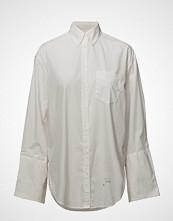 Gant Rugger R1. Crisp Poplin Wide Cuff Ebbd Langermet Skjorte Hvit GANT RUGGER