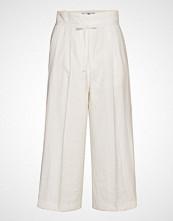 Mango Bow Straight Trousers Vide Bukser Hvit MANGO