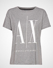 Armani Exchange Woman Jersey T-Shirt T-shirts & Tops Short-sleeved Grå ARMANI EXCHANGE
