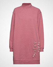Superdry Scandi High Neck Sweat Dress Kort Kjole Rosa SUPERDRY