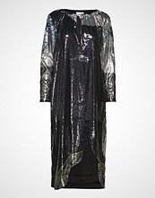 Ganni Sequin Mesh Dress Knelang Kjole Svart GANNI