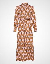 Yas Yasgabrielle Ls Ankle Shirt Dress Knelang Kjole Rosa YAS
