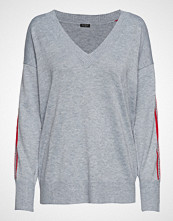 GUESS Jeans Ls Vn Julie Sweater Strikket Genser Grå GUESS JEANS