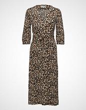 InWear Siri Wrap Dress Kntg Knelang Kjole Brun INWEAR