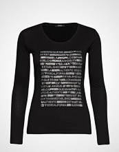 GUESS Jeans Ls Cn Los Angeles Tee T-shirts & Tops Long-sleeved Svart GUESS JEANS