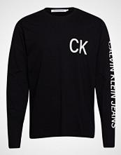 Calvin Klein Ck Jeans On The Back T-shirts Long-sleeved Svart CALVIN KLEIN JEANS