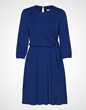 Tommy Hilfiger Barbara Wrap Dress L Knelang Kjole Blå TOMMY HILFIGER