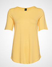 Gina Tricot Lizzy Top T-shirts & Tops Short-sleeved Gul GINA TRICOT
