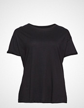 Violeta by Mango Organic Cotton T-Shirt T-shirts & Tops Short-sleeved Svart VIOLETA BY MANGO