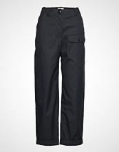 Wood Wood Hanni Trousers Vide Bukser Svart WOOD WOOD