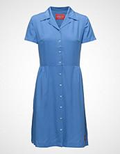 Calvin Klein Drapey Tencel Short Sleeve Tea Dress Kort Kjole Blå CALVIN KLEIN JEANS