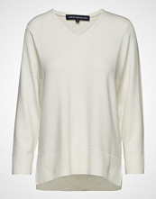 French Connection Ebba Vhari V Neck Jumper Strikket Genser Creme FRENCH CONNECTION