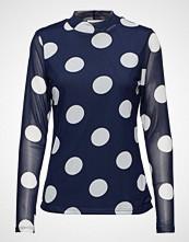 Kaffe Bobbie Dot Blouse T-shirts & Tops Long-sleeved Blå KAFFE